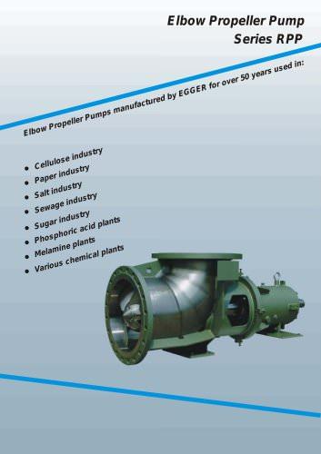 Egger Elbow Propeller Pumps RPP/RPG