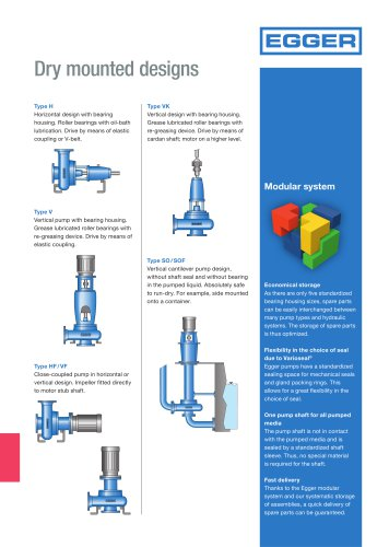 Mountings / Designs from Egger Pumps
