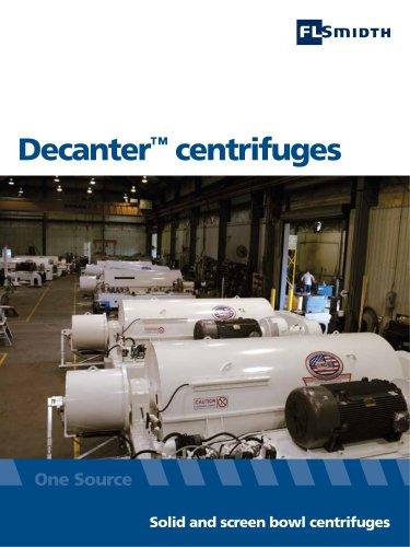 Decanter™ screenbowl centrifuges