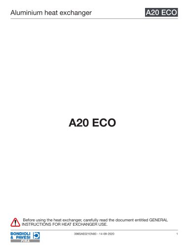 Aluminium Heat Exchanger | A20 ECO