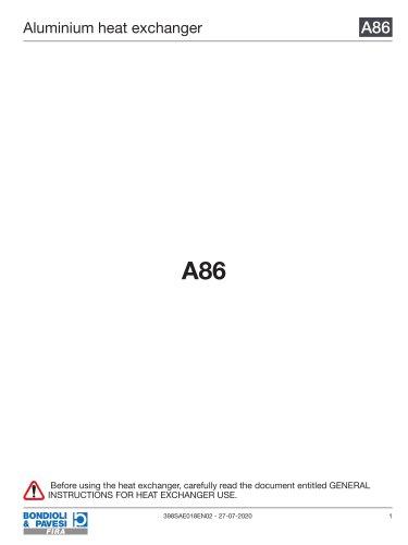 Aluminium Heat Exchanger | A86