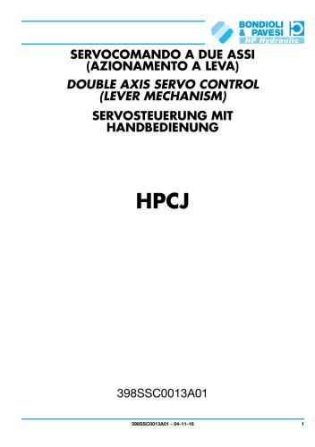 Double axis servo control (lever mechanism) - HPCJ