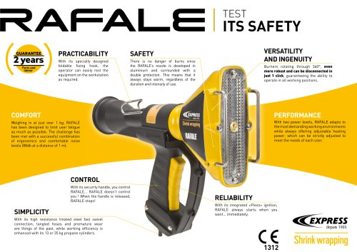 Rafale shrinkforming gun
