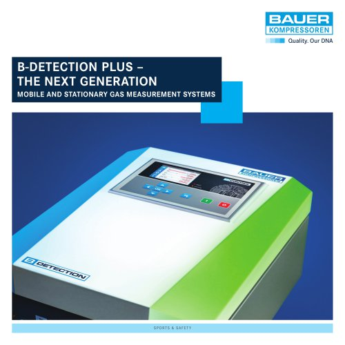 B-DETECTION PLUS – The Next Generation Online Gas Measurement Systems