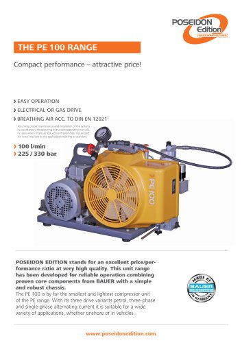 The Range PE 100 ? Compact performance ? Attractive price