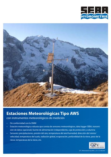 Automatic Weatherstation Type AWS