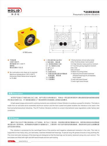 HOLID pneumatic vibrator,pneumatic air turbine vibrator,Turbine Vibrator,Industrial Vibrator,GT4 GT8 GT10 GT16 GT20 GT30 GT40