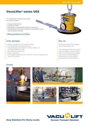 the self-suction VacuLifter® U02