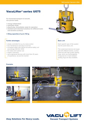 the self-suction VacuLifter® U075