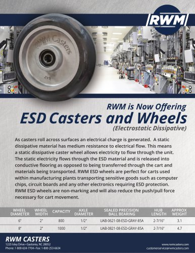 ESD Casters and Wheels