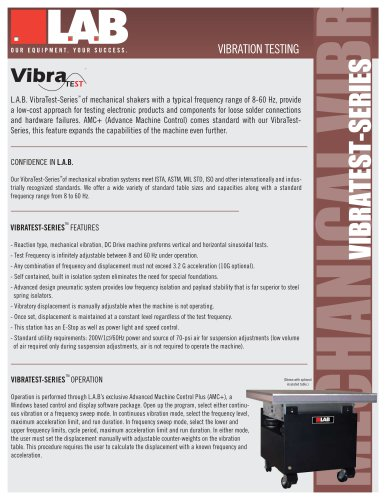 VibraTest? Series Mechanical Vibration