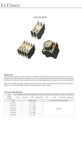 Auxiliary contacts | Bolevo LA1-D LA2-D series