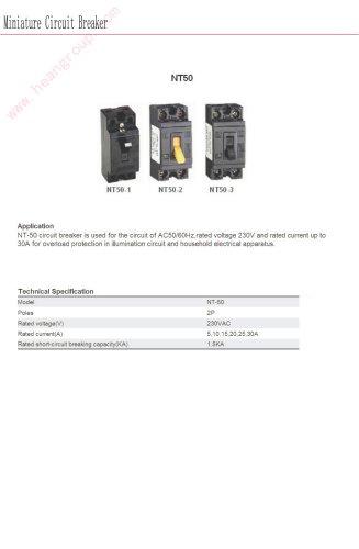 Miniature circuit breaker | Bolevo NT50 series