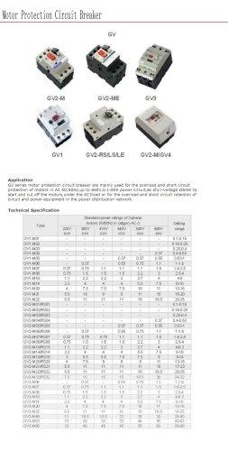 Motor protection circuit breaker | Bolevo GV series
