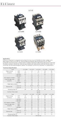 Three-phase AC contactor | Bolevo LC1-D series