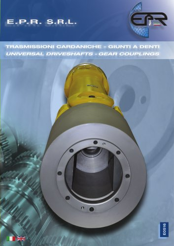 CARDAN SHAFTS AND GEAR COUPLINGS 2016