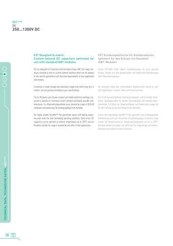 Catalogue Brochure E57 AC/DC Box Capacitors for Universal Use