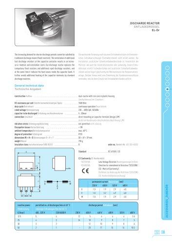 Discharge Reactor ELDr