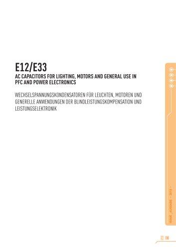 E12/E33 - Motor Capacitors Class P2 in aluminium can
