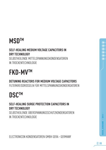MSD Medium Voltage Capacitors Catalogue (English/German)