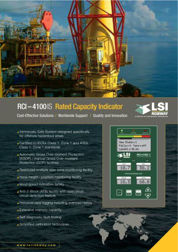 LSI-ROBWAY RCI-4100IS multi-sensor display