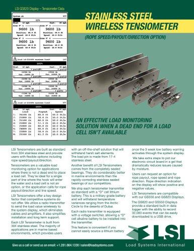 LSI STAINLESS STEEL wireless tensiometer