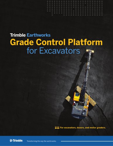 Trimble Earthworks Grade Control Platform for Excavators