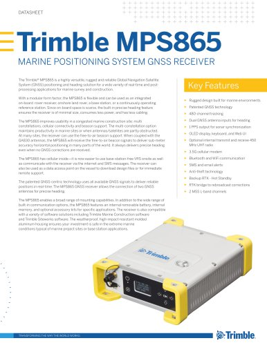 Trimble MPS865