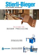 Busbars - bending machines