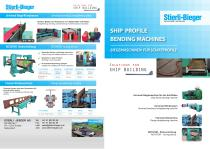 Ship profile bending machines