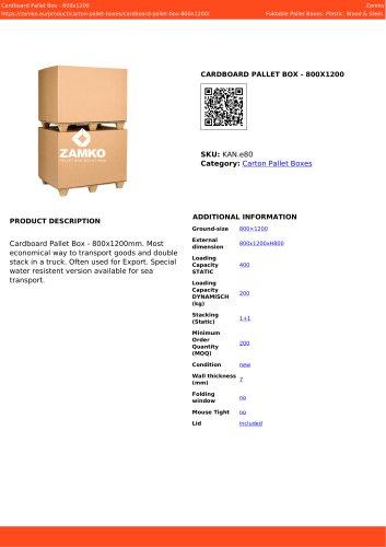 CARDBOARD PALLET BOX - 800X1200