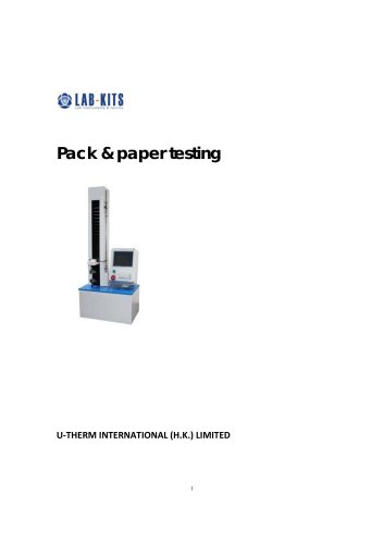 Pack & paper testing