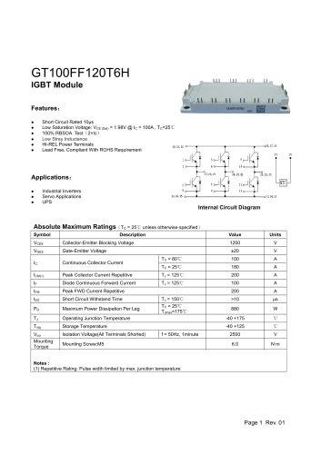 GT100FF120T6H IGBT module