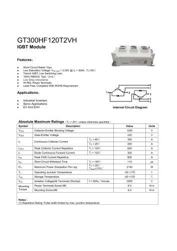 GT300HF120T2VH IGBT module