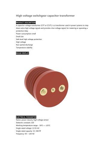 High voltage switchgear capacitor transformer