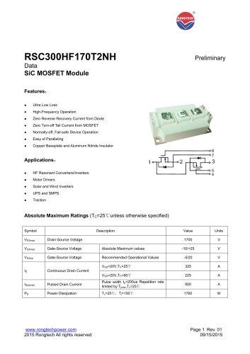 RSC300HF170T2NH SiC MOSFET Module