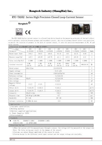 RTC10AS12 close loop current sensor