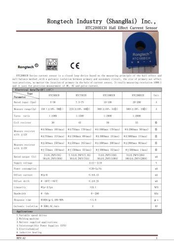 RTC200ECH current sensor