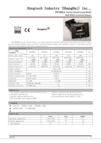 RTC200LA close loop current sensor