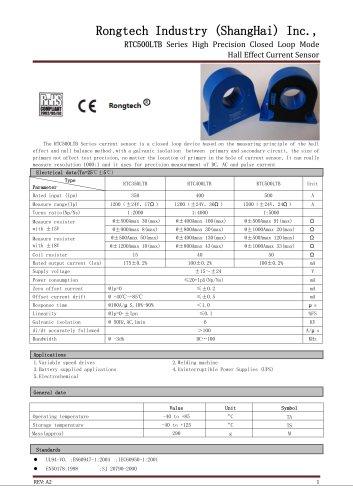 RTC500LTB close loop current sensor