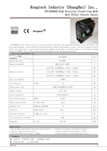 RTLT2000SH high precision current transducer