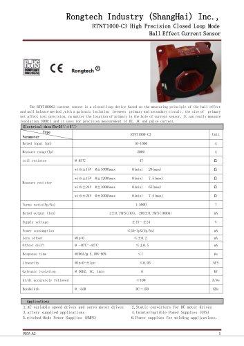RTNT1000-C3 high precision current sensor