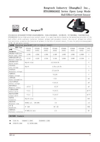 RTO1000ASA52 open loop EV current sensor