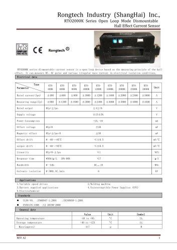 RTO2000K split core current sensor