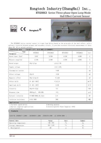 RTO200G3 3 phase open loop current sensor