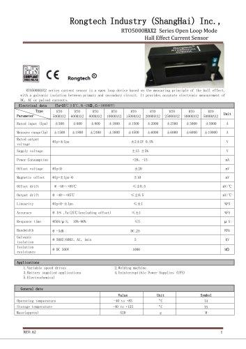 RTO5000HAX split core current sensor