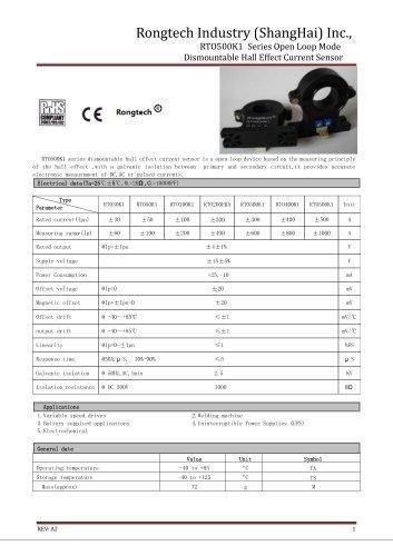 RTO500K1 split core current sensor