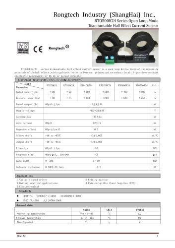 RTO500K24 split core current sensor