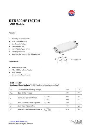 RTR600HF170T9H  IGBT module