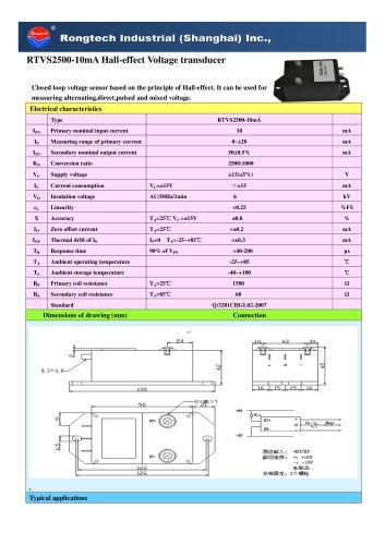 RTVS2500-10mA voltage transducer